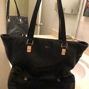 lauren small leather tote bag ralph lauren swim for women